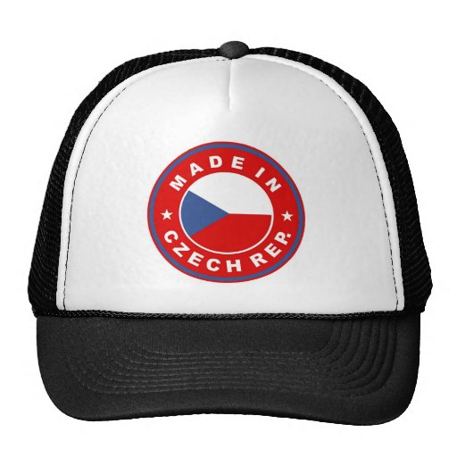 made in czech republic country flag product label hat