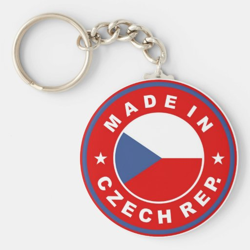 made in czech republic country flag product label keychains