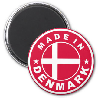 made in denmark country flag label round stamp 6 cm round magnet