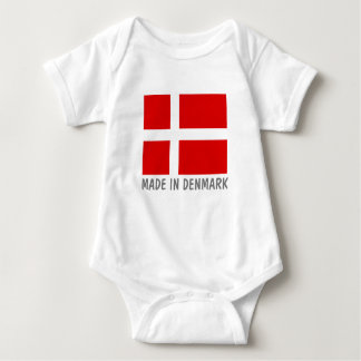 Made in Denmark Danish flag baby jumpsuit clothes