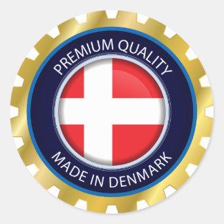 Made in Denmark Flag, danish Colors Seal