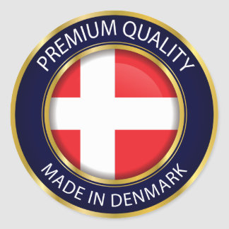Made in Denmark Flag, danish Colors Seal