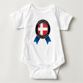 Made in Denmark Flag, danish  Seal Baby cloth Baby Bodysuit