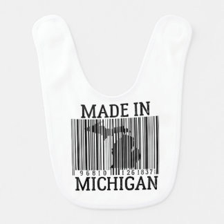 Made In Detroit Barcode Baby Bib