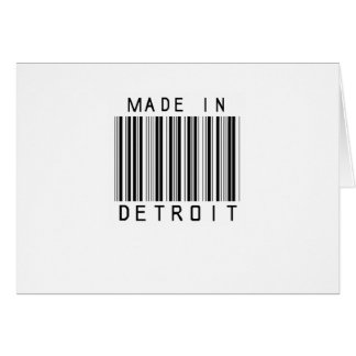 Made in Detroit Barcode Card
