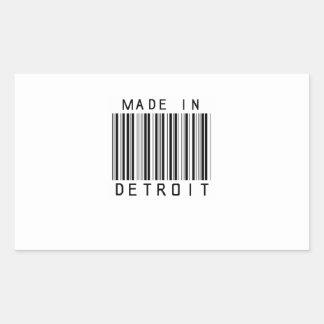Made in Detroit Barcode Rectangular Sticker