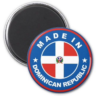 made in dominican republic flag label round stamp 6 cm round magnet