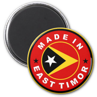 made in east timor country flag label round stamp 6 cm round magnet