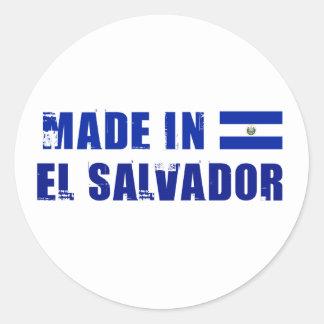 Made in El Salvador Round Sticker
