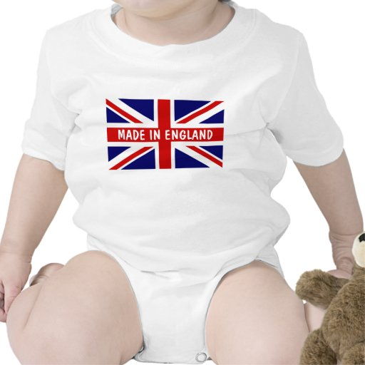 Made in England baby clothes Tshirt