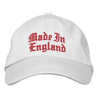 Made In England Embroidered Hat