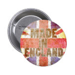 Made in England Pinback Buttons