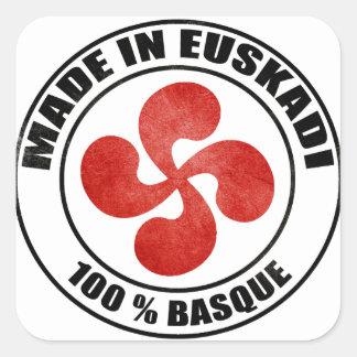 made in Euskadi Bayonne Square Sticker