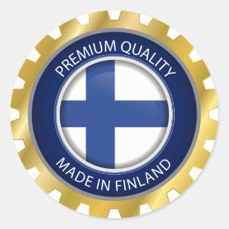 Made in Finland, Finnish Flag Classic Round Sticker