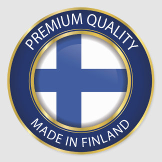 Made in Finland, Finnish Flag Classic Round Sticker