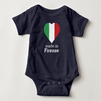 Made in Florence/Firenze heart flag Italy-Italia Baby Bodysuit