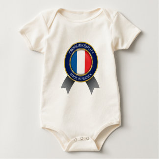 Made in France Flag, French Colors Cloth Baby Bodysuit