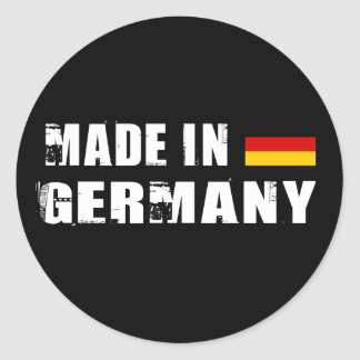 Made in Germany Round Sticker