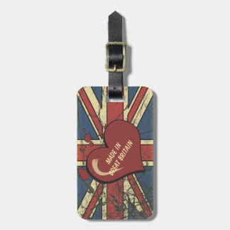 Made In Great Britain Retro Style Flag Design Bag Tag