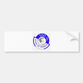 Made In Greece 100% Bumper Sticker