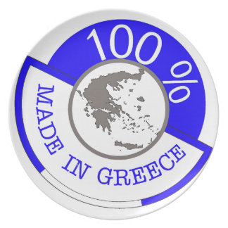 Made In Greece 100% Plate