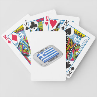 Made in Greece badge Bicycle Playing Cards