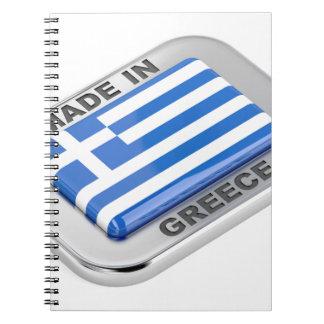Made in Greece badge Spiral Notebook