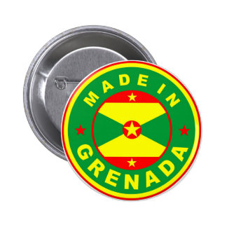 made in grenada country flag product label round 6 cm round badge