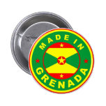 made in grenada country flag product label round buttons