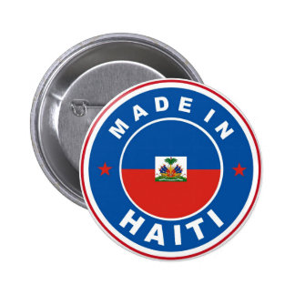 made in haiti country flag product label round pin