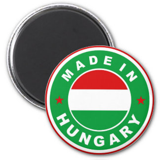 made in hungary country flag label round stamp 6 cm round magnet