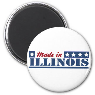 Made In Illinois Refrigerator Magnet
