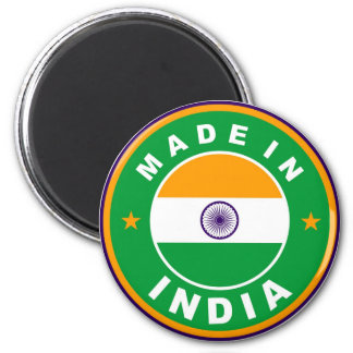 made in india country flag label round stamp 6 cm round magnet
