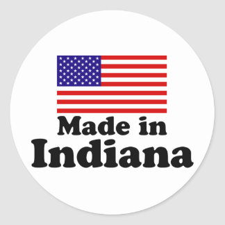 Made in Indiana Classic Round Sticker