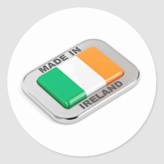 Made in Ireland Classic Round Sticker