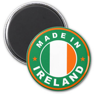 made in ireland country flag product label round magnets