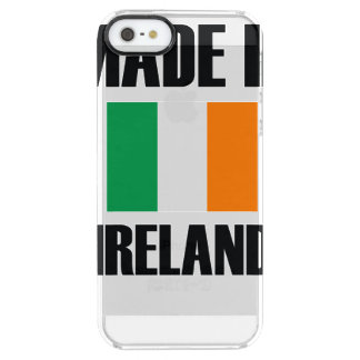 Made In Ireland Flag Clear iPhone SE/5/5s Case