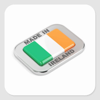 Made in Ireland Square Sticker