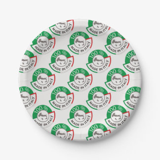 MADE IN ITALY 100% 7 INCH PAPER PLATE