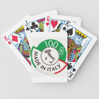 MADE IN ITALY 100% BICYCLE PLAYING CARDS