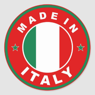 made in italy country flag product label round