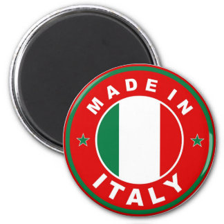 made in italy country flag product label round magnets