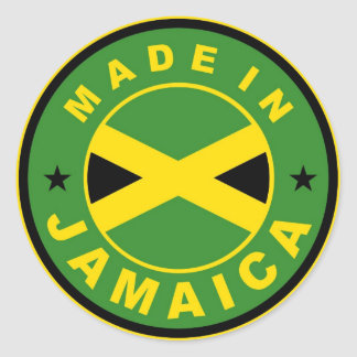 made in jamaica country flag product label round