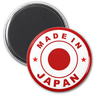 made in japan country flag label round stamp fridge magnet