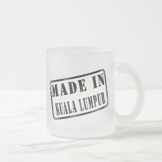 Made in Kuala Lumpur Frosted Glass Mug
