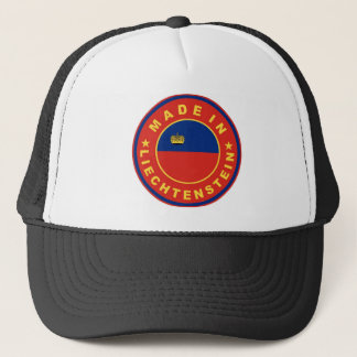 made in liechtenstein country flag product label trucker hat