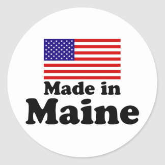 Made in Maine Classic Round Sticker