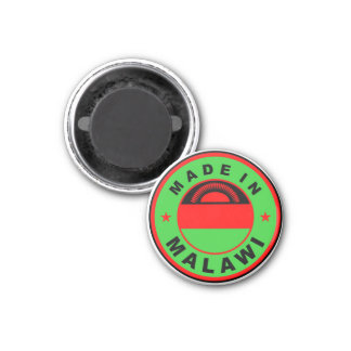 made in malawi country flag product label round magnet