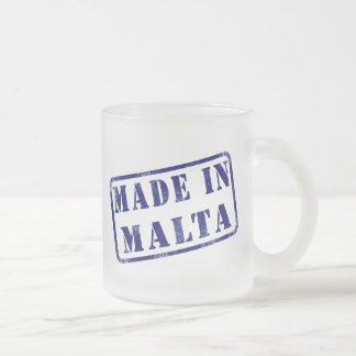 Made in Malta Frosted Glass Coffee Mug