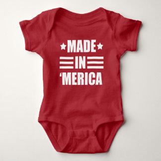 Made in 'Merica funny baby Baby Bodysuit